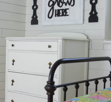 Budget Friendly Vintage Dresser Makeover