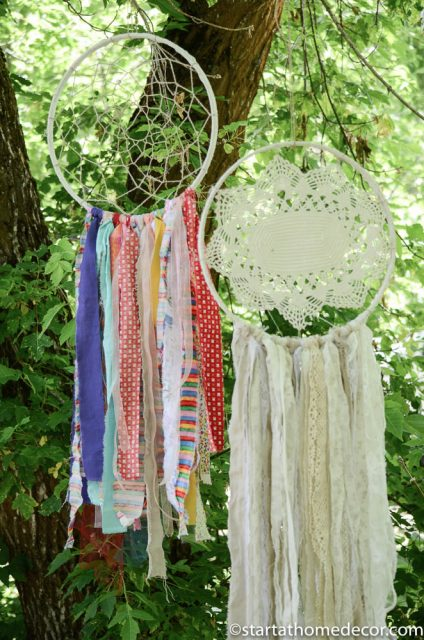 Dream catchers | doilies and jute