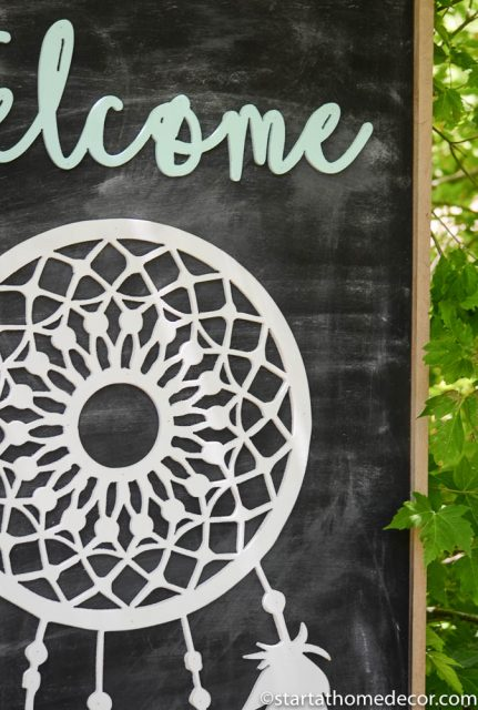 Welcome to our tribe dream catcher sign