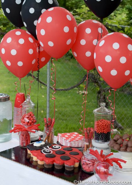 Create the Perfect Birthday Table on a Budget | Black and Red