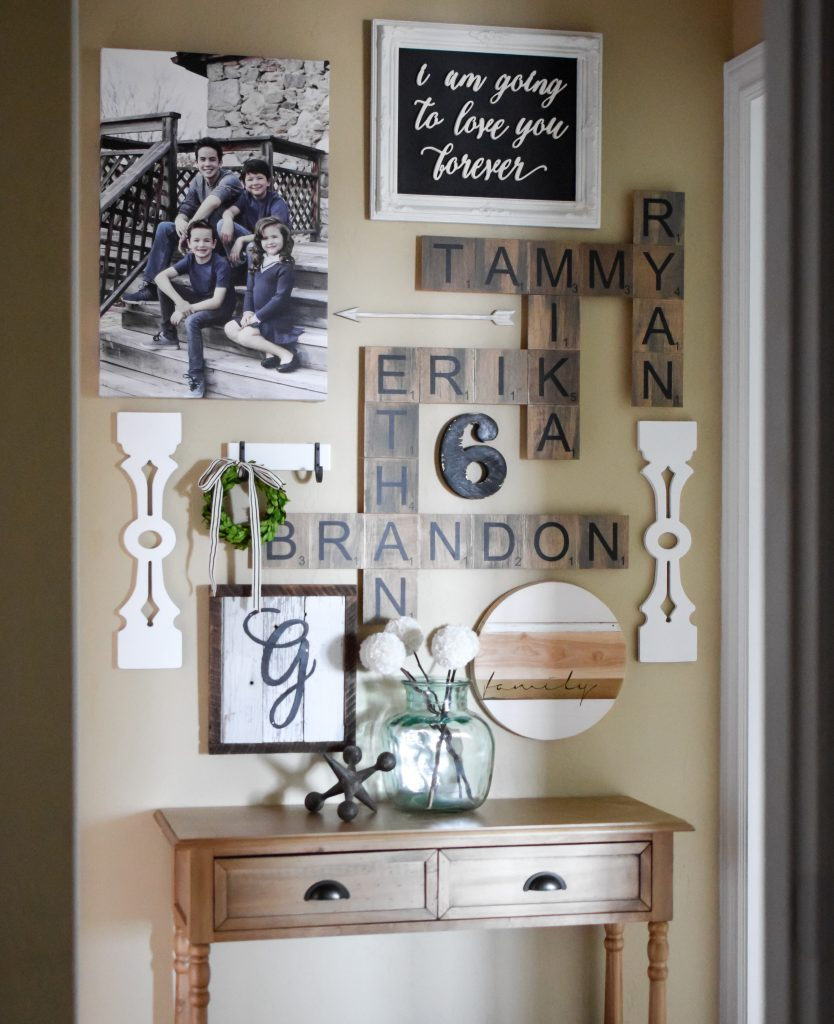 Decorating with vintage inspired balusters start at home - Family room wall decor ideas ...