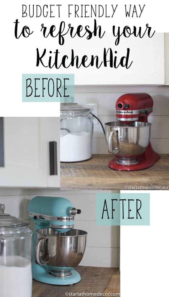 Budget friendly way to refresh your KitchenAid