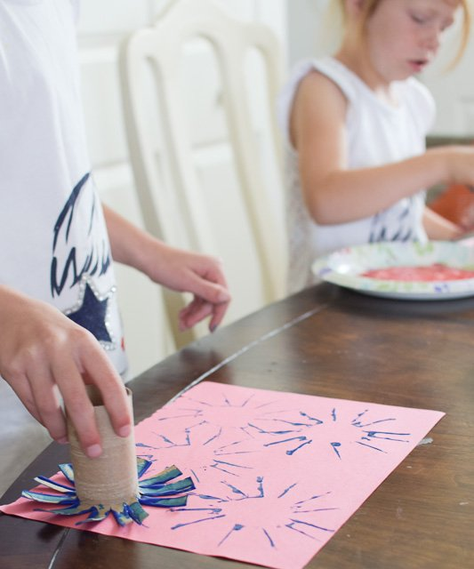 4th of July Firework Craft | Start at Home Decor