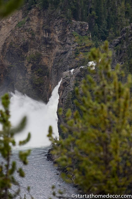 Views of Upper Falls at Yellowstone