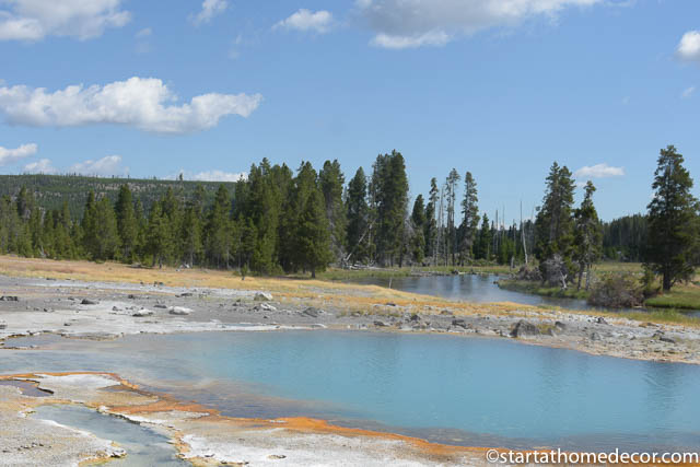 Seeing the beautiful rivers at Yellowstone