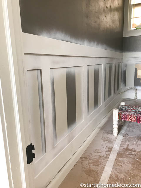DIY Wainscoting | Start at Home Decor | Woodwork | Wall Decor | DIY | Bathroom Remodel |