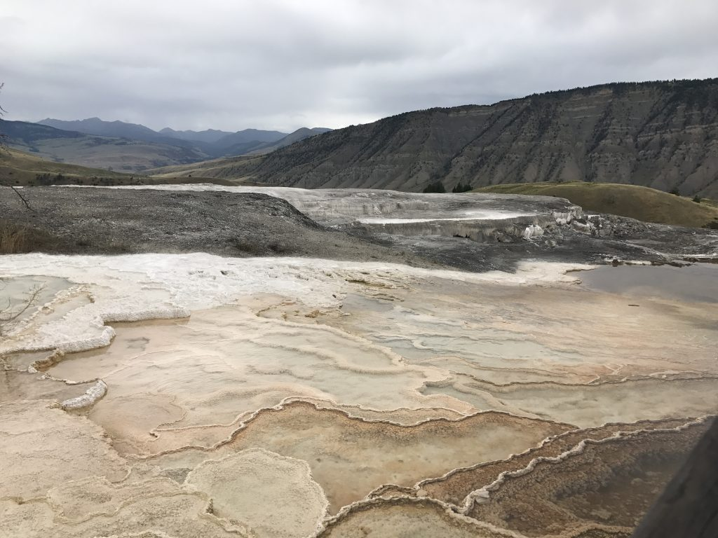 Visiting Mammoth Hot Springs