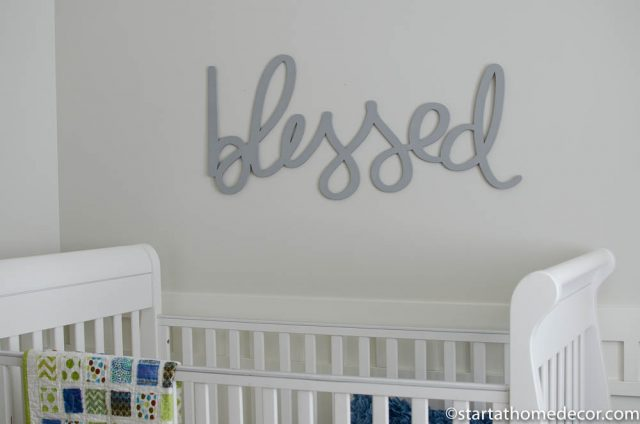 Blessed cutout decor