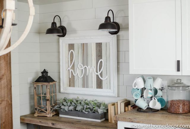 Handwritten Home and Reclaimed Wood Sign by Start at Home Decor