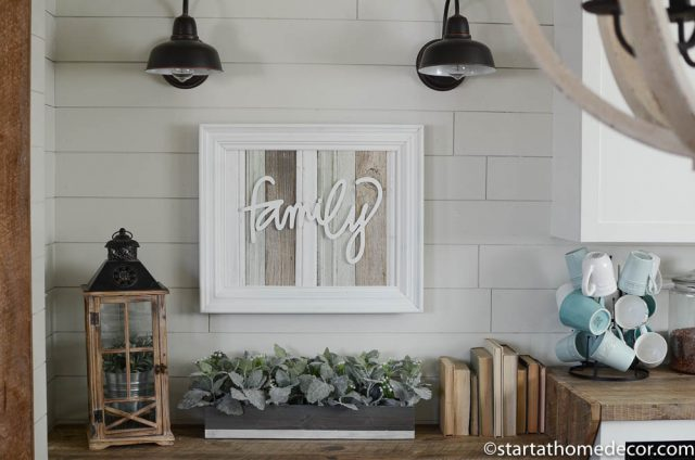 Handwritten Family and Reclaimed Wood Sign by Start at Home Decor