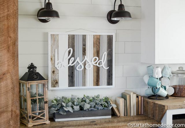 Handwritten Blessed and Reclaimed Wood Sign by Start at Home Decor