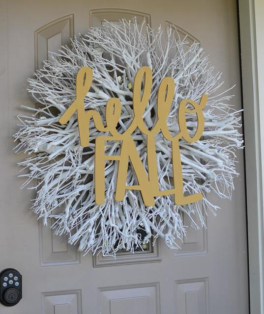 Hello fall doorhanger