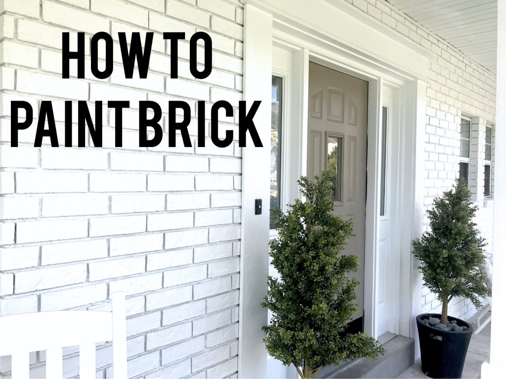 How to paint exterior brick like a pro start at home decor - Painted brick exterior pictures set ...
