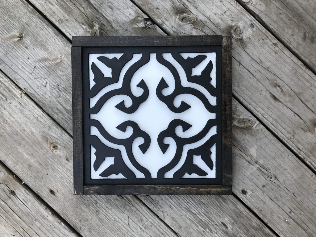 Beautiful tile sign cutout for mantles, walls or tables