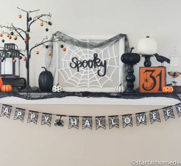 DIY Spooky Halloween Mantle