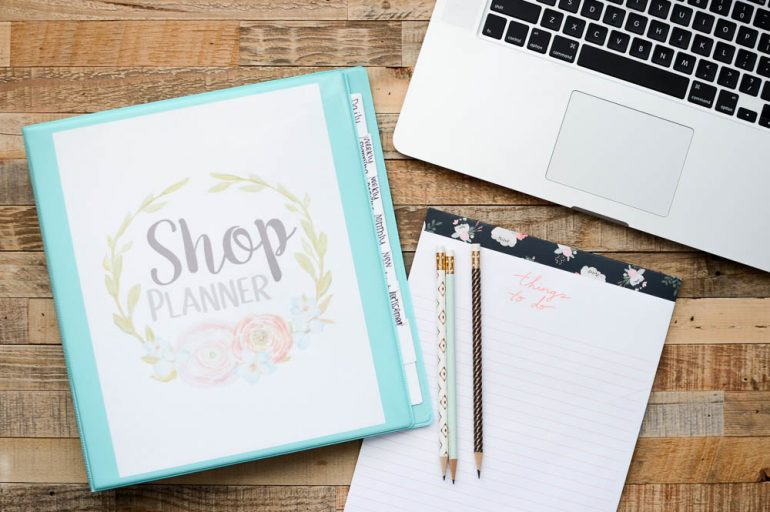 Online Shop Organization + Free Printables