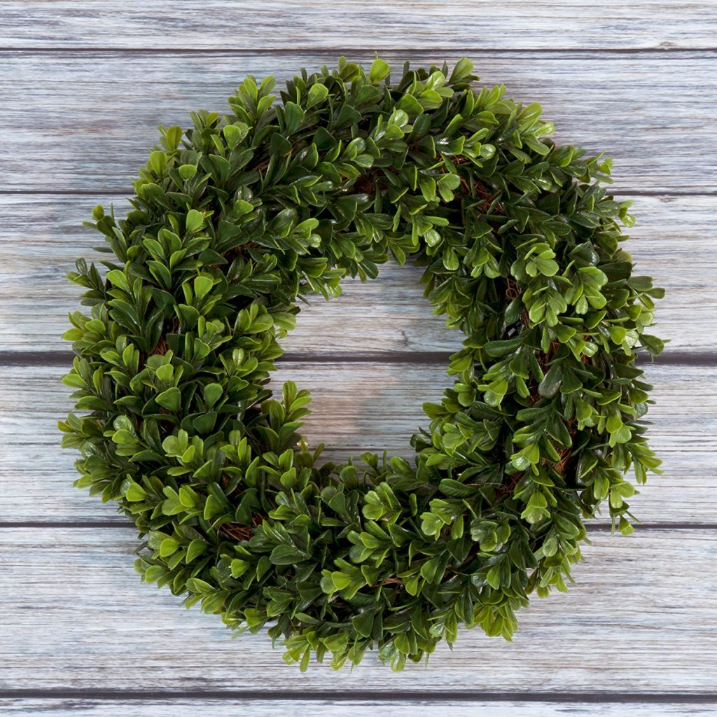 My holiday favorites-boxwood wreath