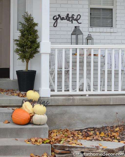 Create a minimalist fall front porch