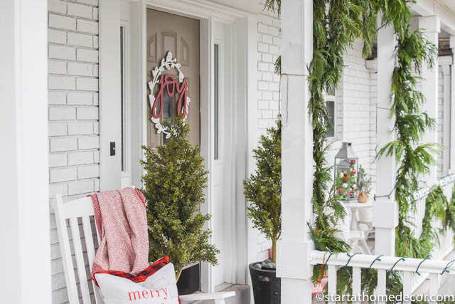 Wreath on your Christmas porch