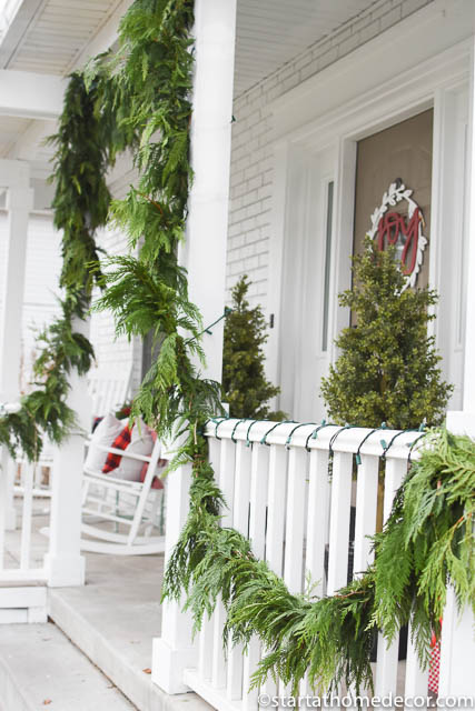 Budget friendly christmas front porch