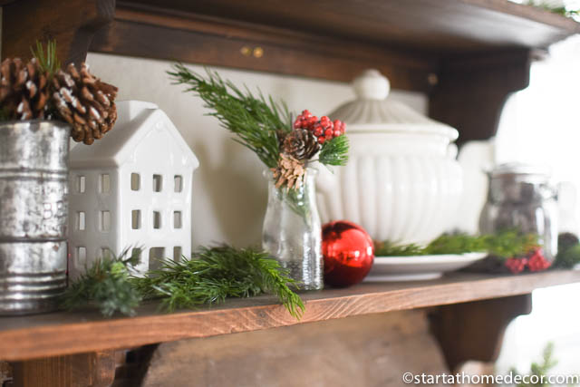 My Christmas home tour - Kitchen shelves