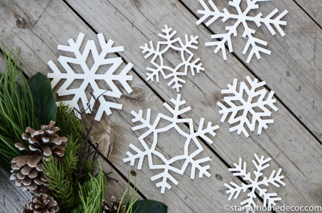 Snowflakes holiday signs