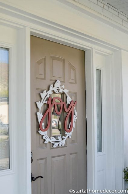 Joy Door Hanger Wreath