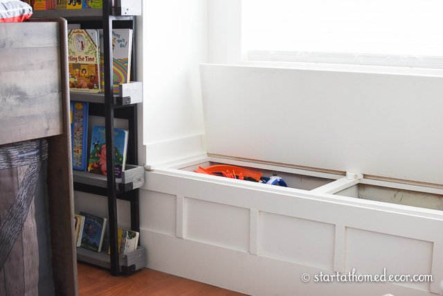 Maximize space with window seat storage