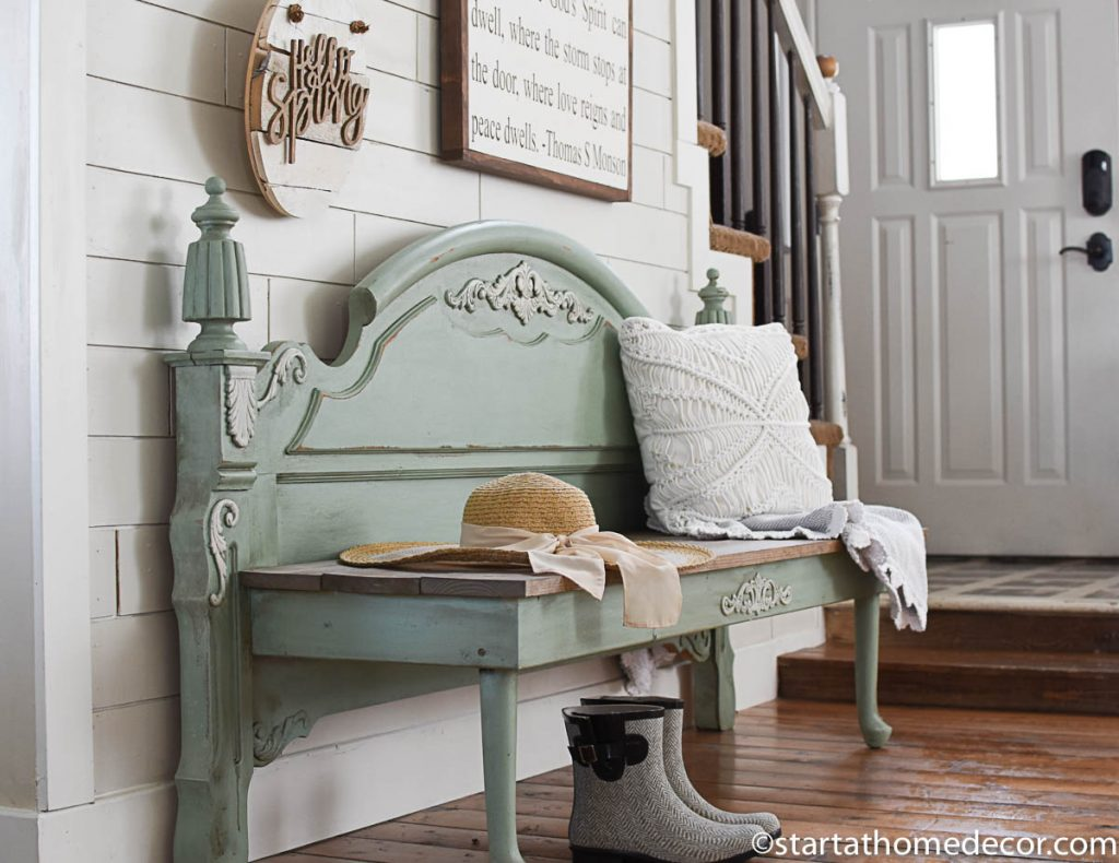 Turn a footboard into a bench