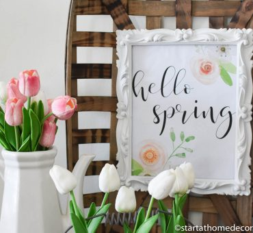 Hello Spring Printable and Some Real Fake Tulips