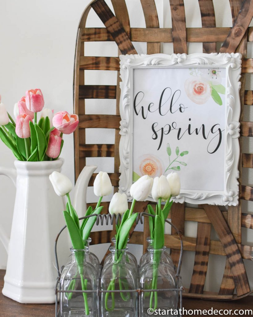 Spring decor-Hello spring printable