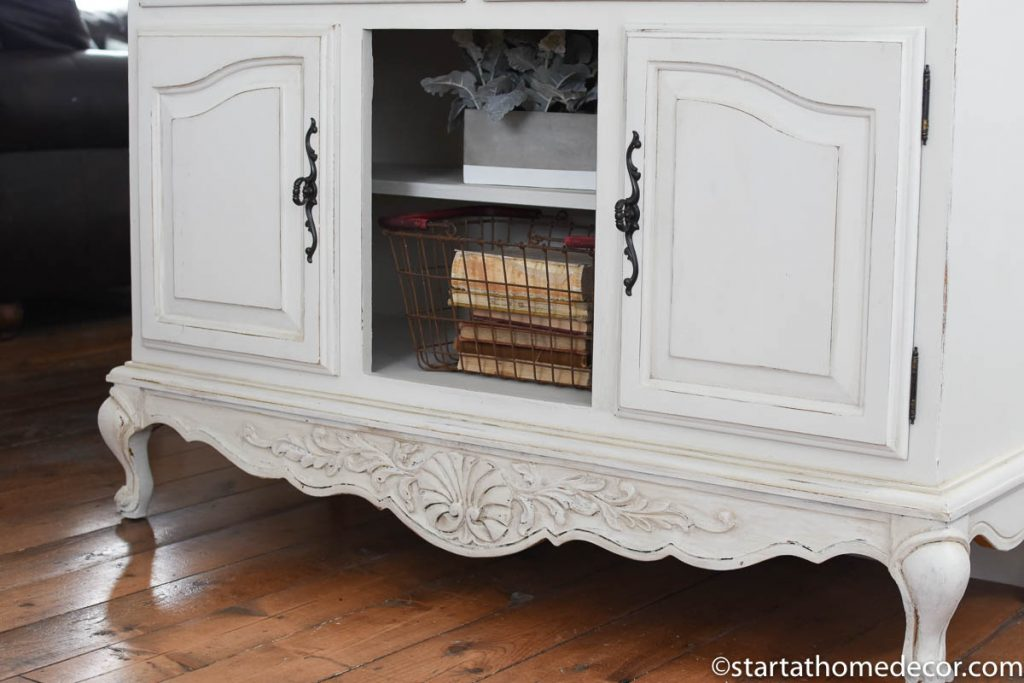 Details using milk paint for furniture refinishing