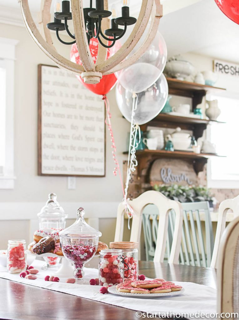 Red themed Valentine's Day Tablescape