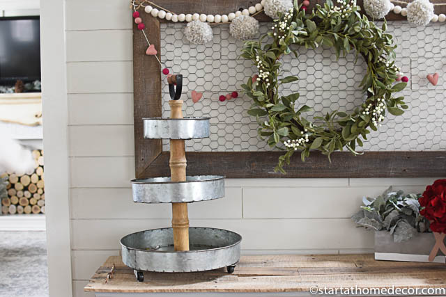Create a stacked tray for your holiday decor