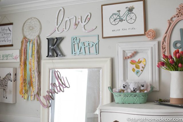 Girls room - collage wall