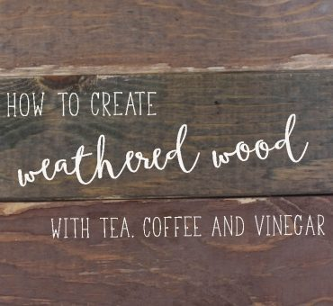How to Create Weathered Wood with Tea, Coffee, Apple Cider Vinegar and Steel Wool