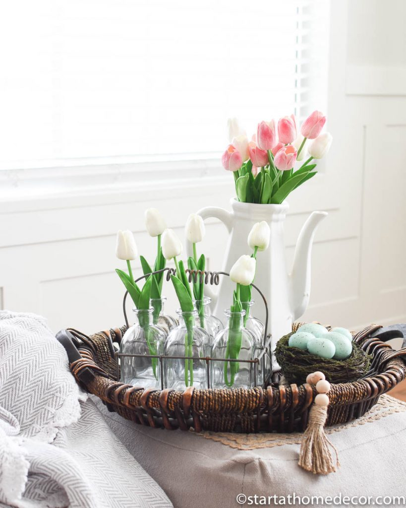 My Home Spring Decor-Faux Tulips