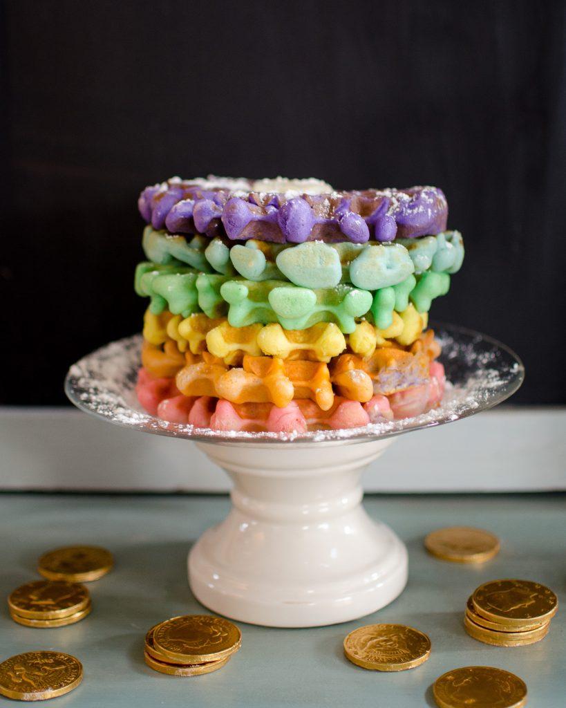 St. Patrick's Day Ideas - Rainbow Waffles