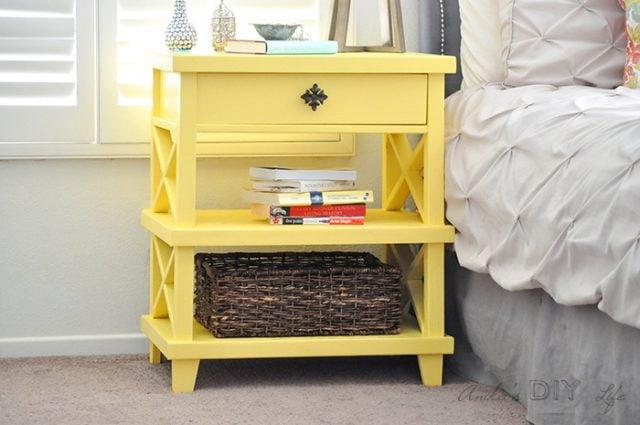 Farmhouse style furniture plans - farmhouse nightstand
