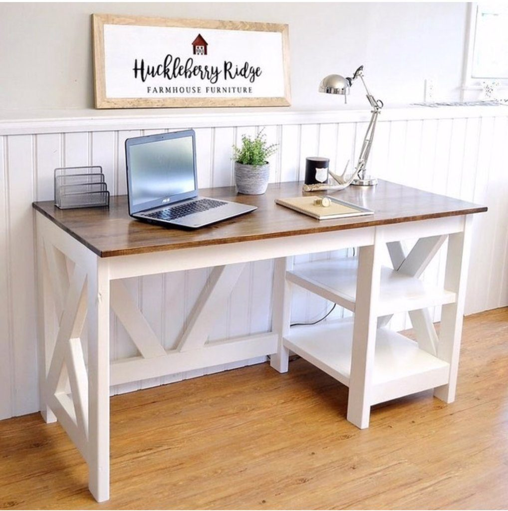 Farmhouse style furniture plans - desk