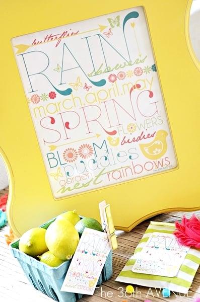 Spring art collage printables