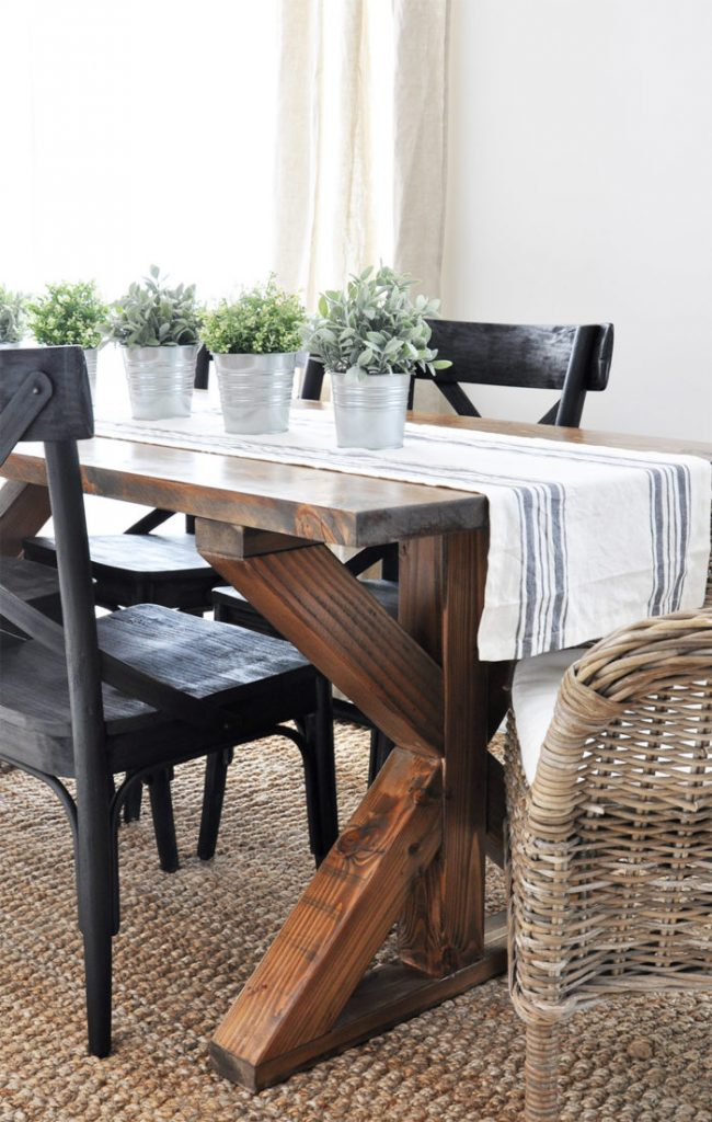 Farmhouse style furniture plans - farmhouse table