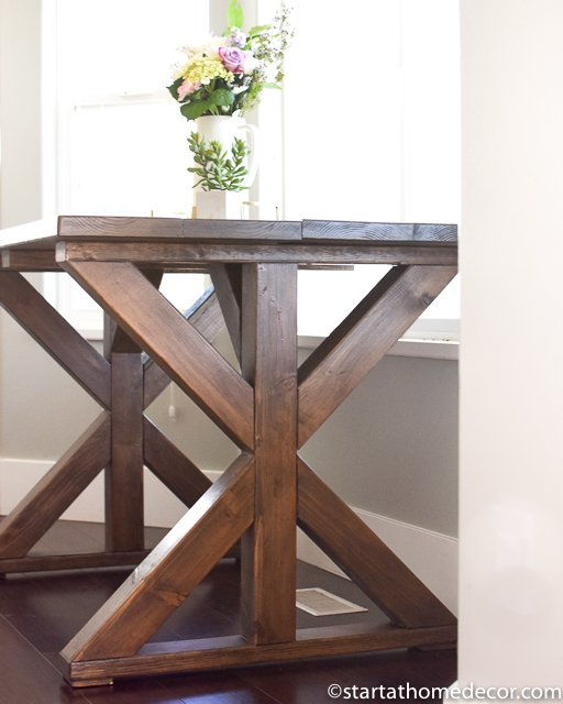 Build an x frame farmhouse table for under $100