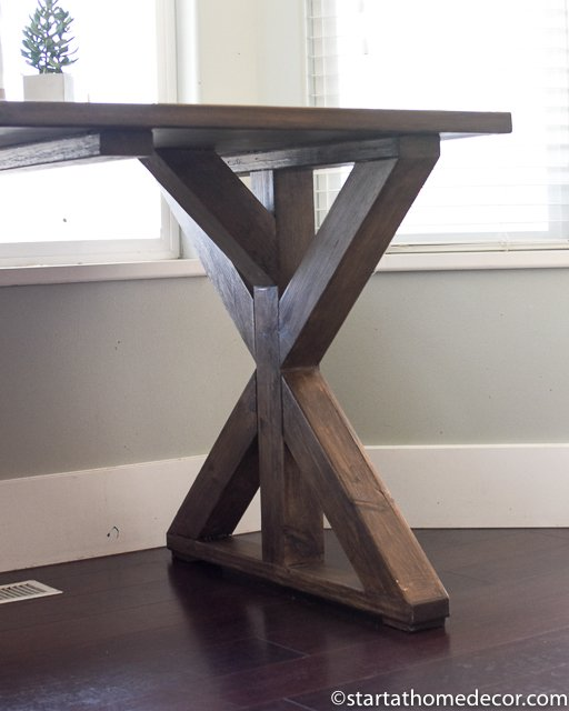 How to build an X frame farmhouse table