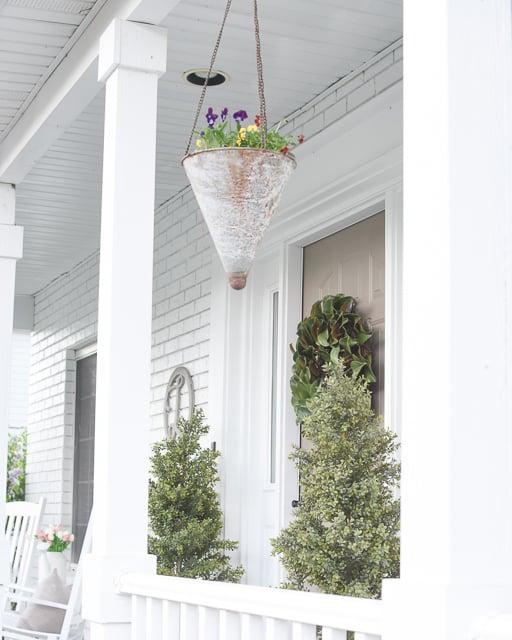 Spring hanging planters