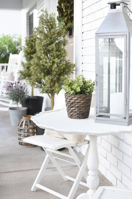 Spring decor outdoors