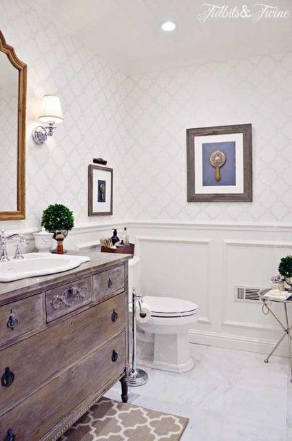 Rustic small bathroom remodel
