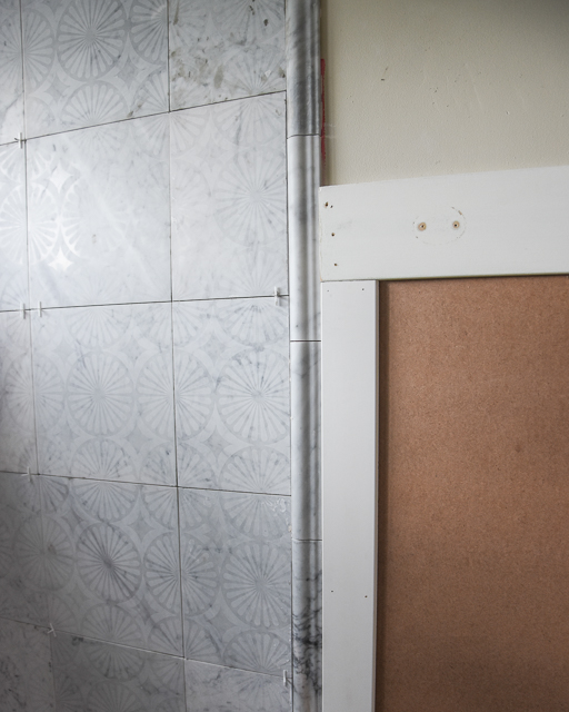 Bathroom renovation: moldings and trim