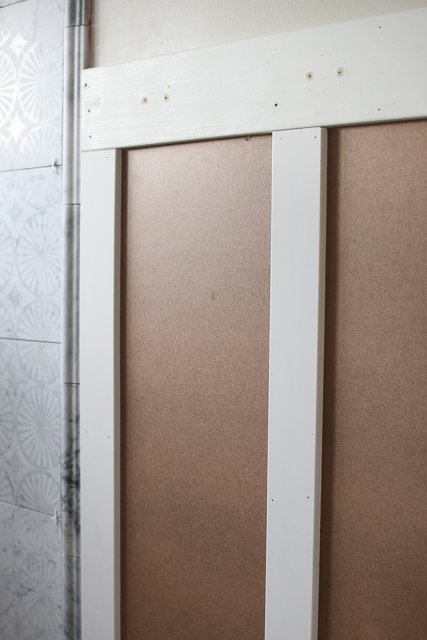 Bathroom renovation: Wainscoting installation