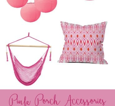Pink Porch Accents for Summer